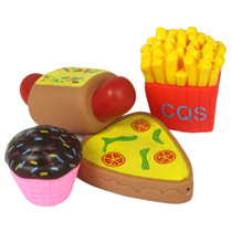 Role Play Food Very Soft, Can Play In Water 4 Piece Set