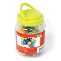 Chunky Crayons with Plastic Grip Handles Tub of 6