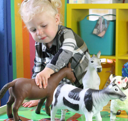 These small world animals are a great addition to any nursery setting.