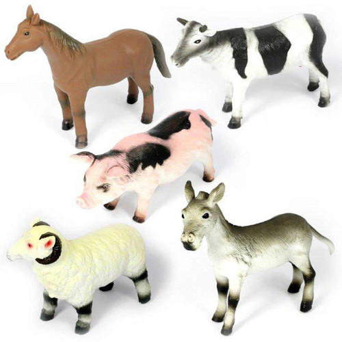 A collection of jumbo farm animals for the early years.