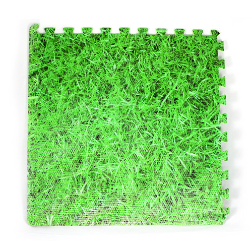 Floor Mat Soft, Inside or Outside Green, Grass 104cm Square