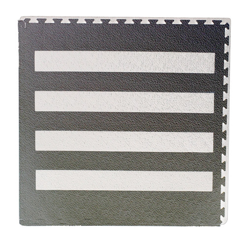 Floor Mat Soft Touch Grey with Zebra Crossing 104cm Square
