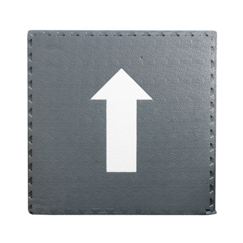 Floor Mat Soft Touch Grey with White Direction Arrow 104cm Square