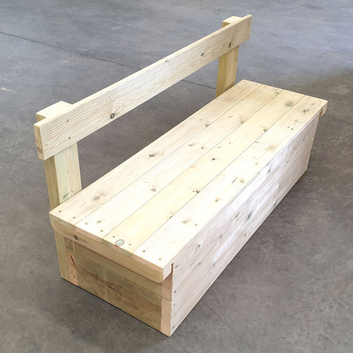 Outdoor Large Hand Made Wooden Storage bench