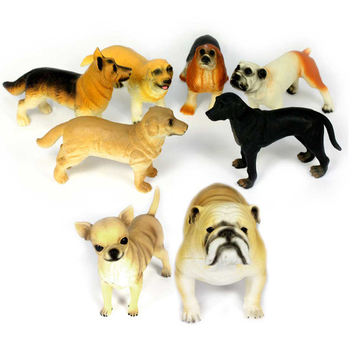Set of 8 Medium Dogs