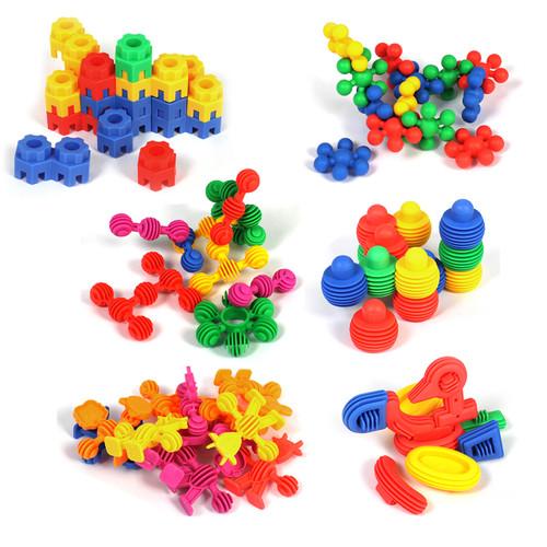 Soft Touch Plastic Construction Set (bundle of 6)