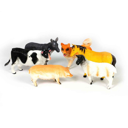 "6"" Farm Animal Bundle Of 6"