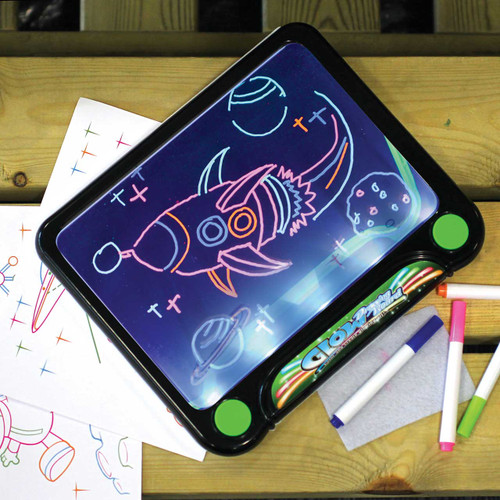 Neon Art Glow Drawing Board With Tracing Images