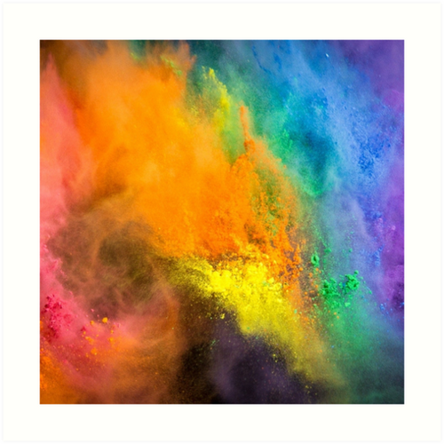 Messy Play Rainbow Powder