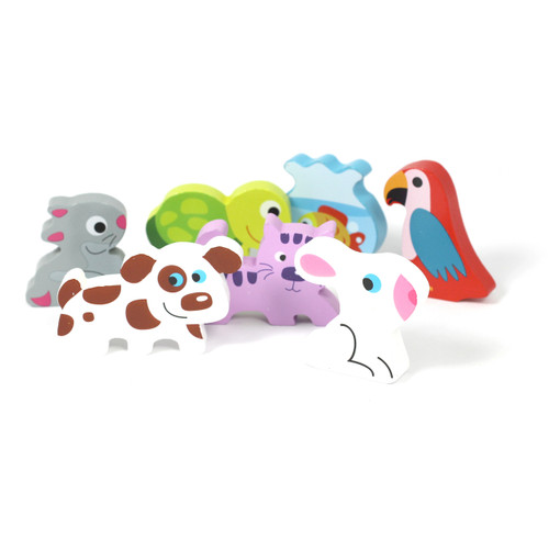 Wooden Chunky Pets Puzzle 7pcs
