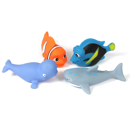 4pc Larger Fish Water Play Set
