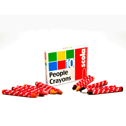 EYFS Multicultural Crayons People Colours Pk10