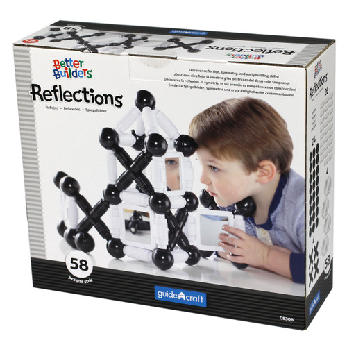 Magnetic Reflection Black & White Building Set