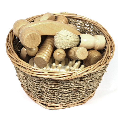 Wooden Sensory Kit in Wicker 8 Piece