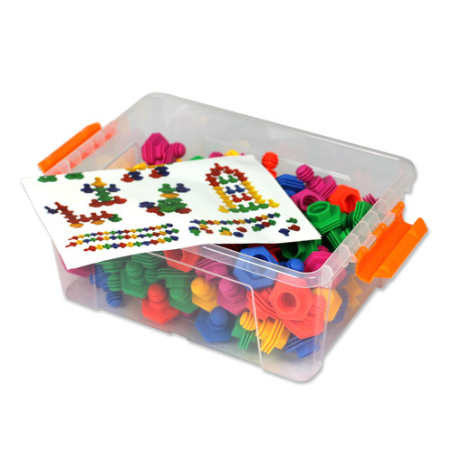 120PC Construction Set Soft Plastic Ridge Shapes Various Colours