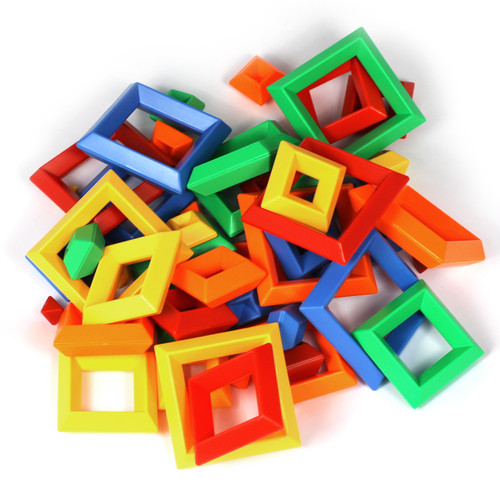 50PC Construction Set Connecting Shapes Various Colours