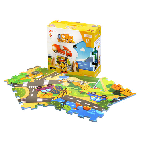 12pc Augmented Reality Puzzle Mat City World
