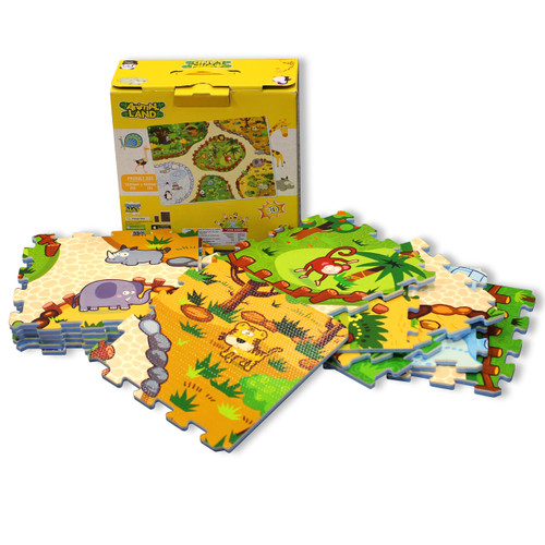 12pc Augmented Reality Puzzle Mat Animal Land