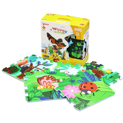 12pc Augmented Reality Puzzle Mat Flying World