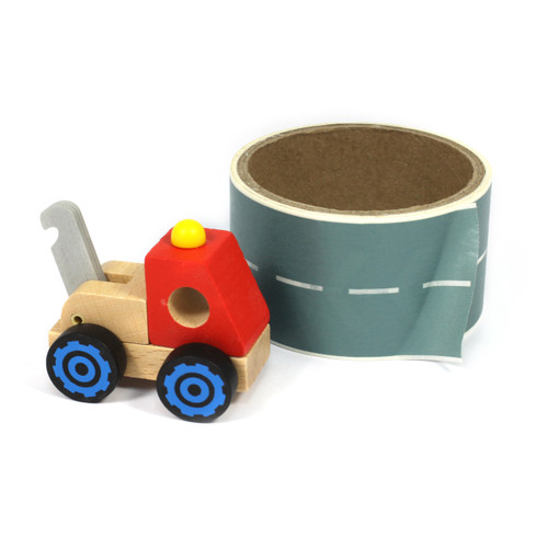 Wooden Model Vehicle And Road/Rail/Runway Tape