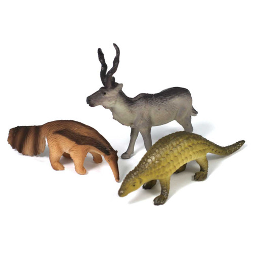 Addax Anteater And Pangolin Wildlife Set 3 Piece
