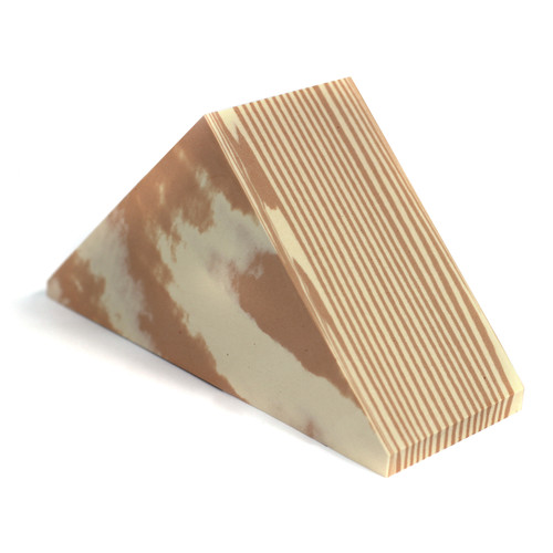 Wooden Effect Foam Building Triangles Pack Of 10