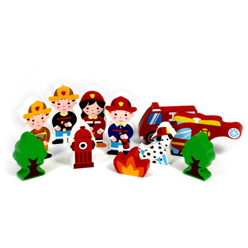 12Pc 15mm Thick Firefighter Character Group