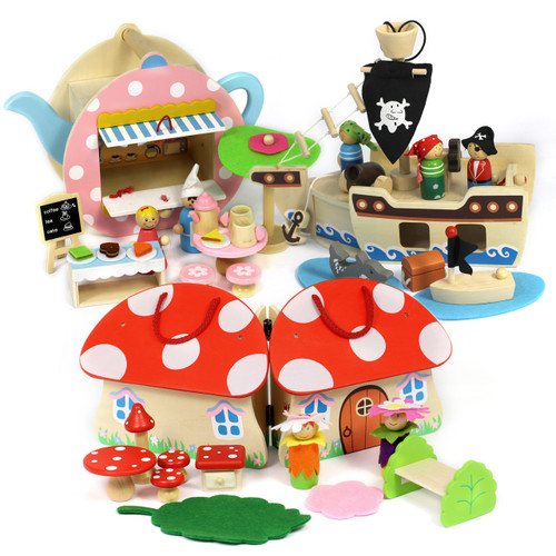 Small world fantasy play sets will bring out the little adventurers wild imaginations!