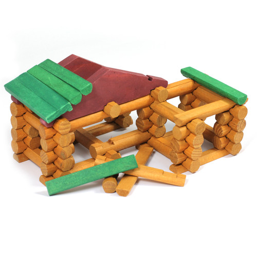 90pc Forest Log Construction Set