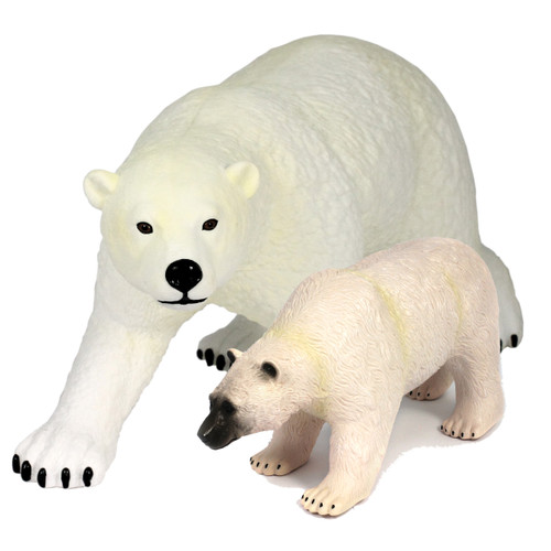 Play set contains our jumbo Polar bear and large Polar Bear