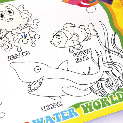 Reusable Water Colouring Book Ocean