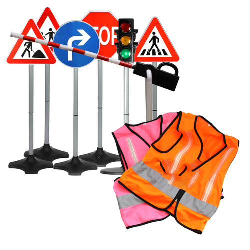 Road Safety Set 10 x Vests and Road Safety Traffic Bundle