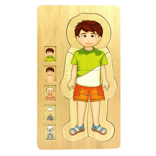 Wooden Human Body Boy Puzzle