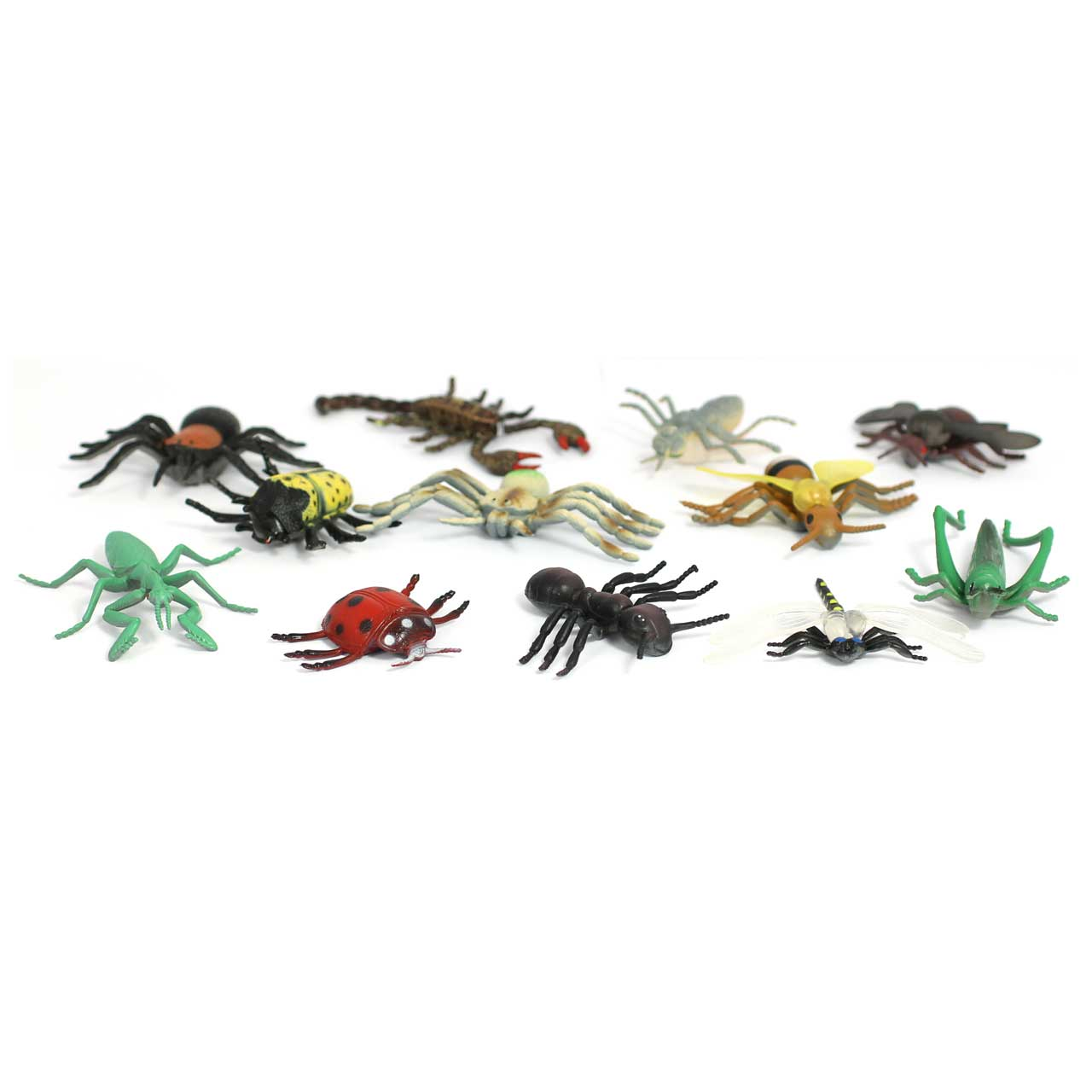 Small Mini Beasts Bugs Soft Feel 12 Different Insects