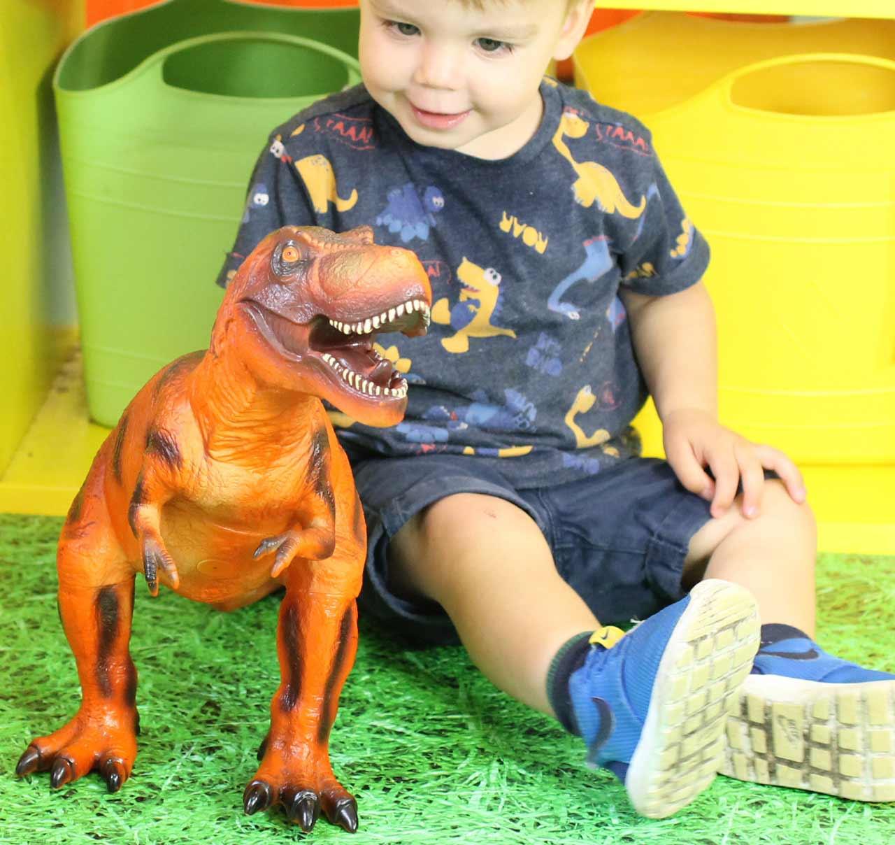 Dinosaur Jumbo, Sensory Soft Touch T-Rex Red