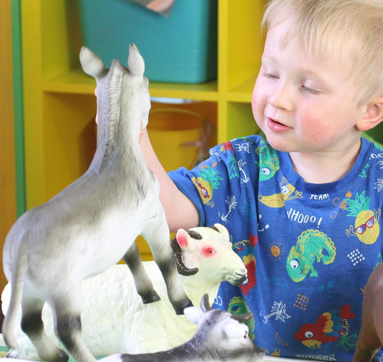 Watch and enjoy as young children learn to act out each of the sounds that the animals make.