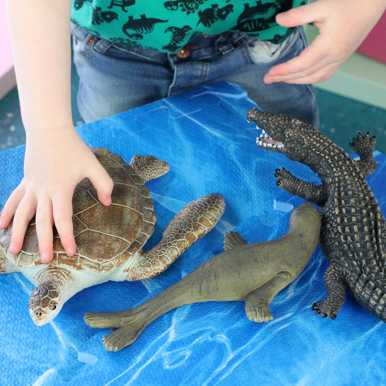 Medium Seal, Turtle and Croc Soft Feel 8 Inch