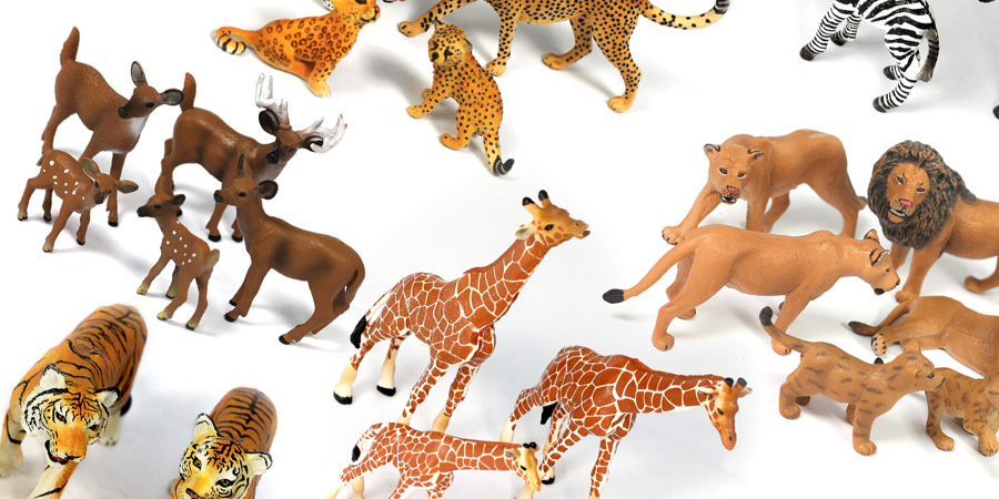 32PC Small Safari Animal Bundle