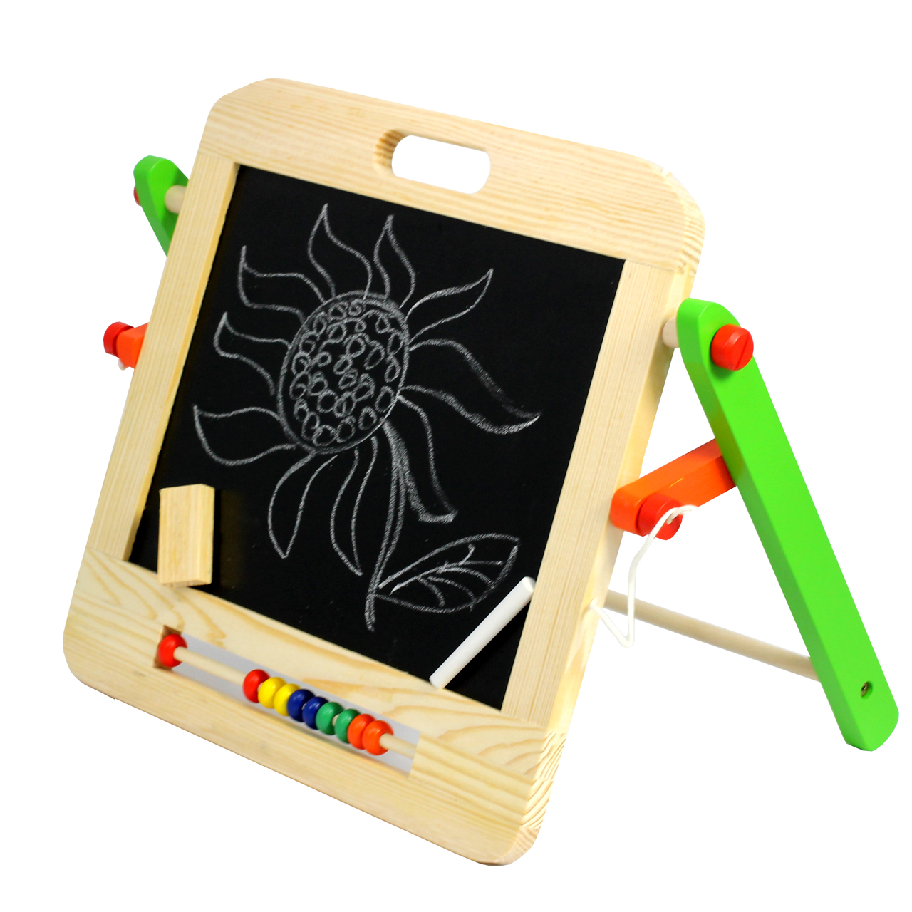 2 in 1 options for the early years, one side for chalkboard option.