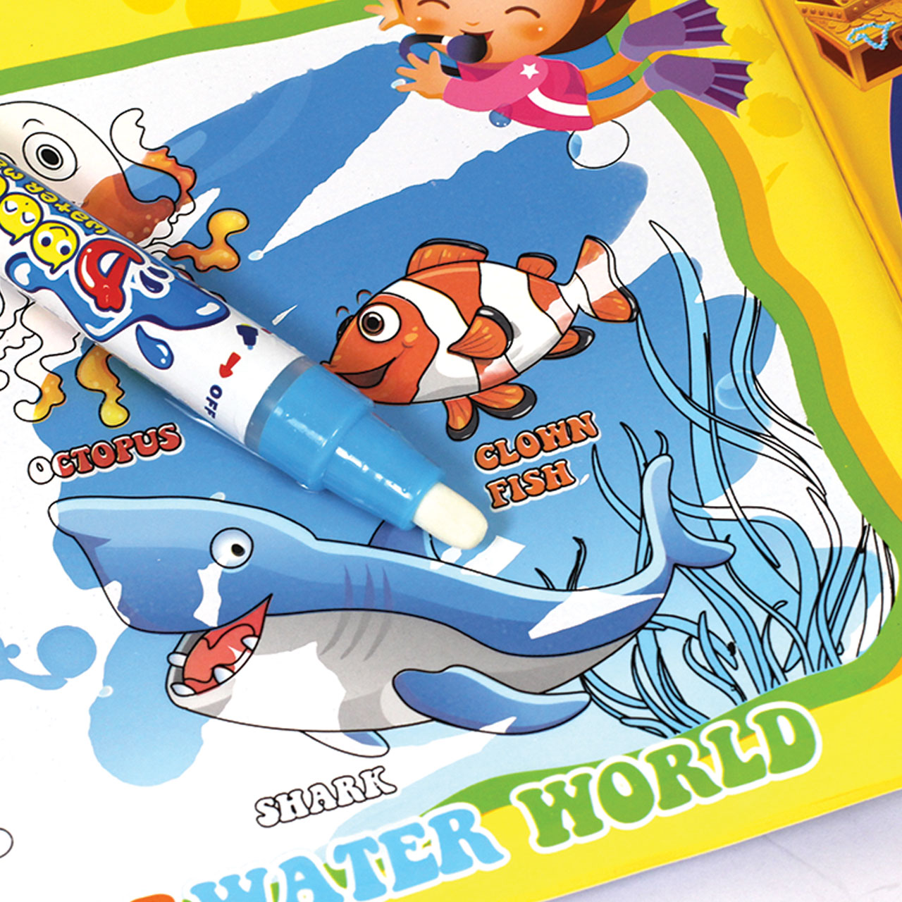 Reusable Water Colouring Book Alpha