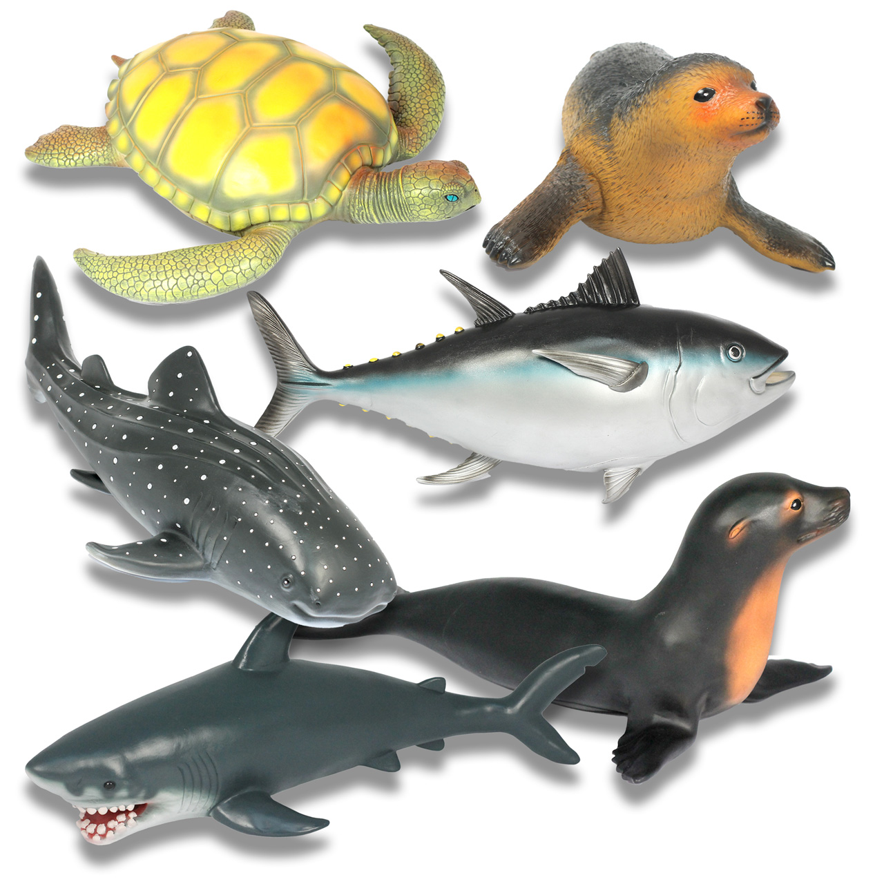 Jumbo Sea Animal Bundle Of 6