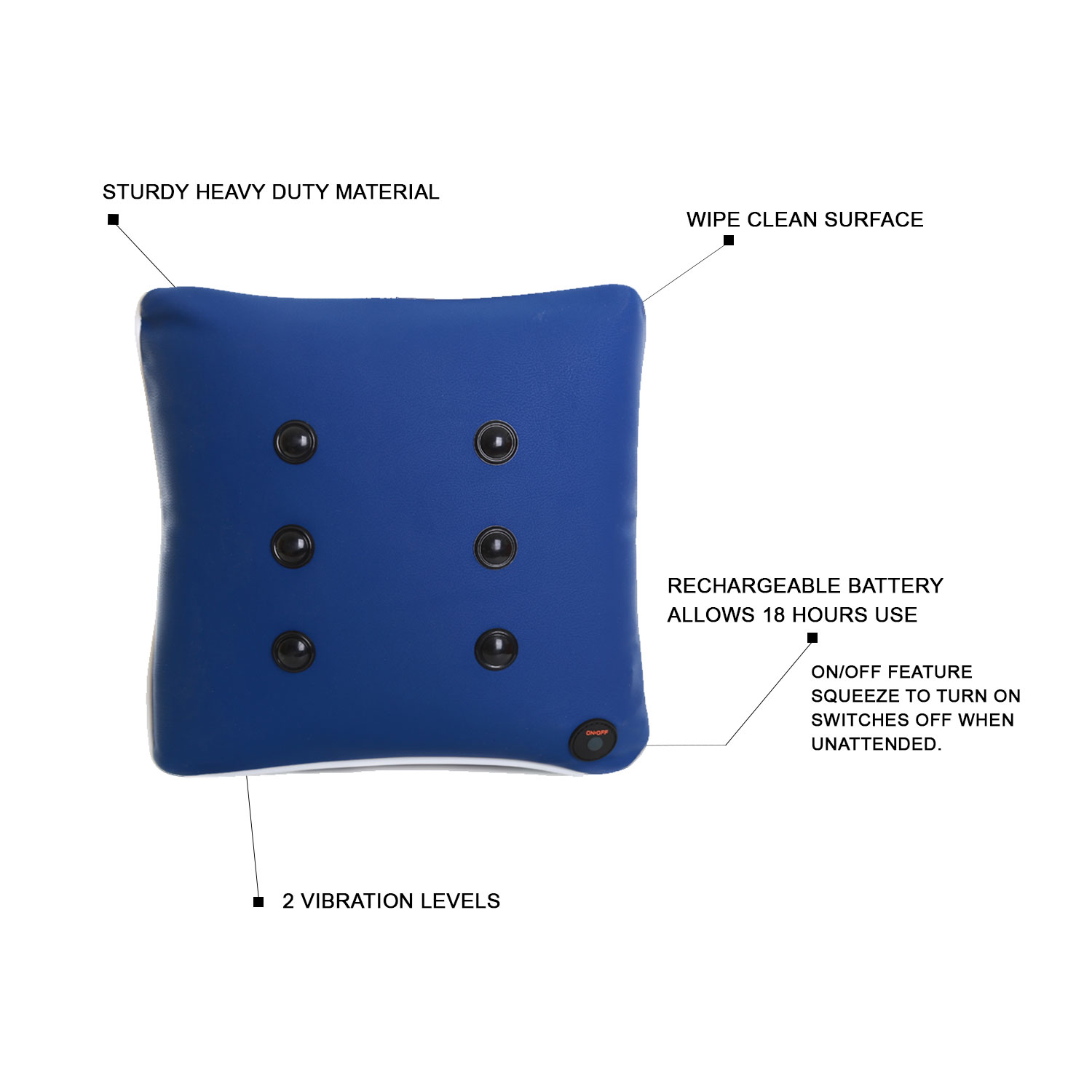 Square Massage Cushion - Blue