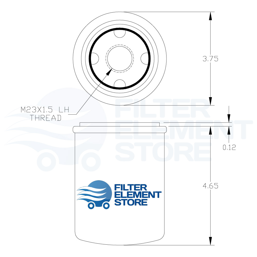 Dimensions for Atlas Copco 1625-032-00 Filter