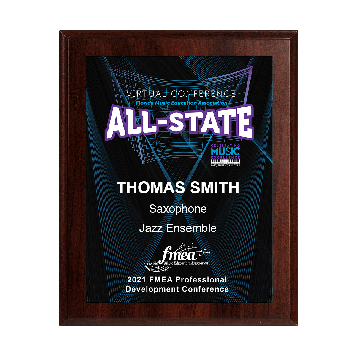 2021 FMEA All-State 8x10 Event Plaque