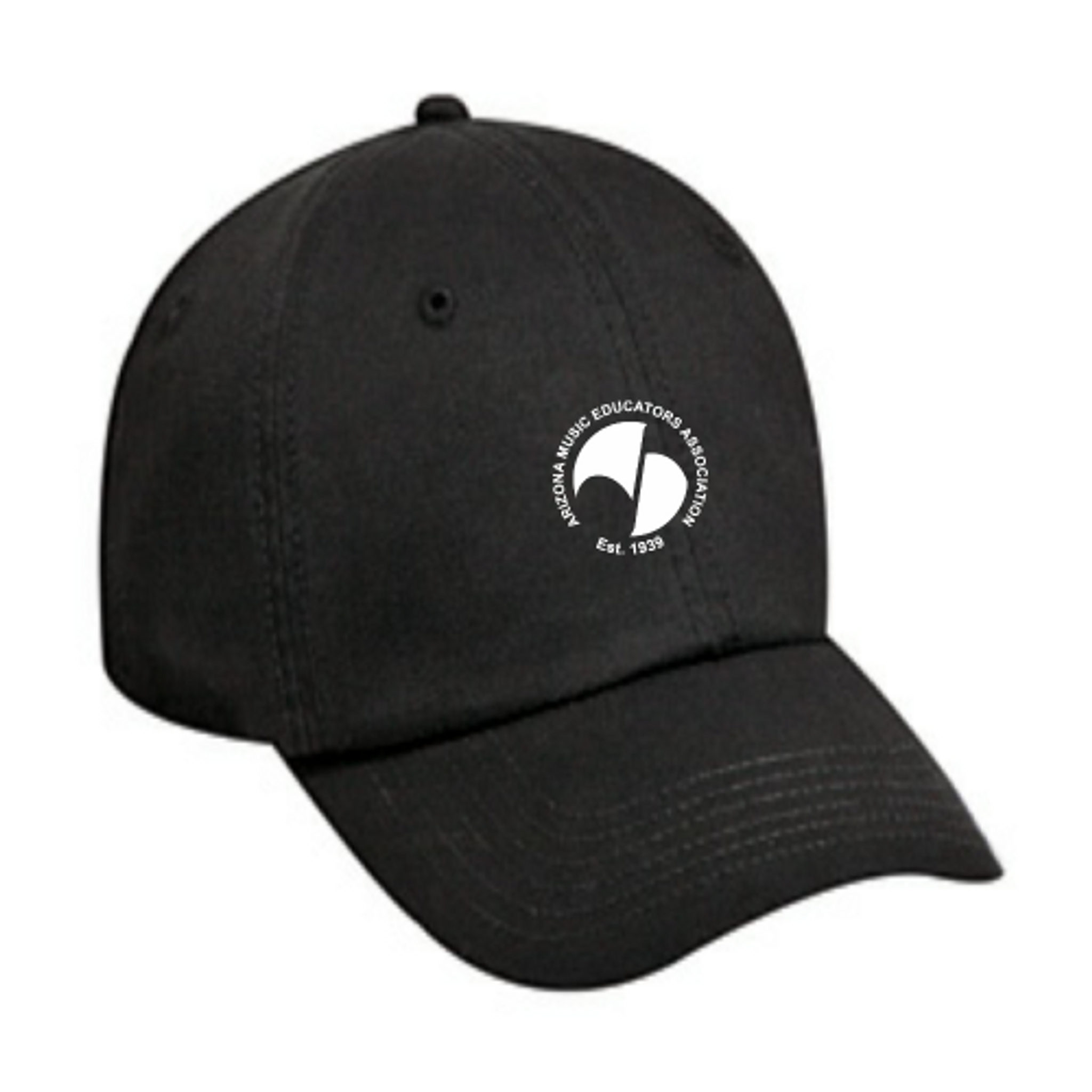 AMEA Black Cotton Twill Cap
