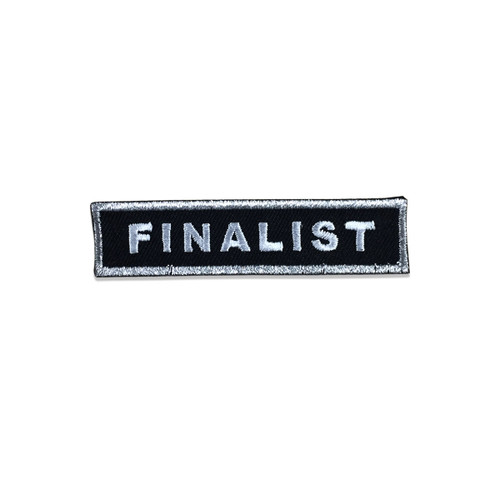 Finalist Patch - Black & Silver