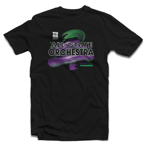 2021 TMEA All-State Orchestra Black T-Shirt