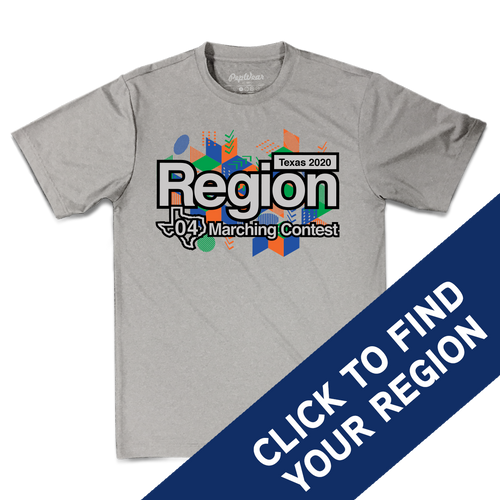 2020 Texas Region Marching Contest Performance T-Shirt