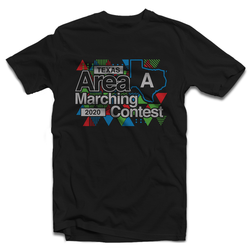 2020 Texas Area Marching Contest Black T-Shirt