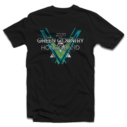 2020 Green Country Honor Band Black T-Shirt